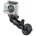 RAM Mount Twist Lock Suction Cup Mount Custom for GoPro Hero (RAM-B-166-GOP1)