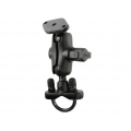 RAM Mount Handlebar Rail Mount Zinc Coated U-Bolt Base, Short Double Socket Arm (RAM-B-149ZAU)