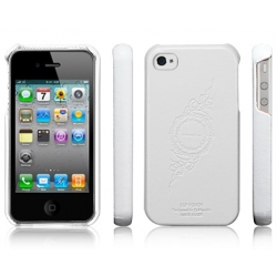 SGP iPhone 4, 4S Leather Case Genuine Leather Grip Series [Infinity White] (SGP06901)