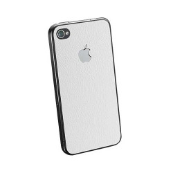SGP Skin Guard Set Series White Leather for iPhone 4, 4S (SGP06770)