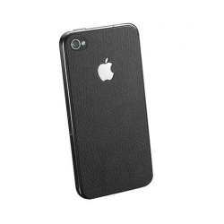 SGP Skin Guard Set Series Deep Black Leather for iPhone 4, 4S (SGP06769S)