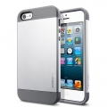 SGP Case Slim Armor Metal Series Satin Silver for iPhone 5, 5S (SGP10090)