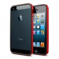 SGP Case Neo Hybrid EX Slim Vivid Series Dante Red for iPhone 5, 5S (SGP10026)