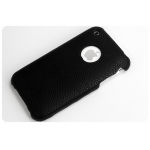 SGP Ultra Thin Leather Grip Black (with Crystal Clear) for iPhone 3G/3GS