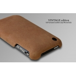 SGP Ultra Thin Genuine Leather Grip Vintage Brown for iPhone 3G/3GS