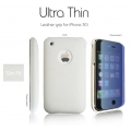 SGP Ultra Thin Leather Grip White (with Crystal Film) for iPhone 3G/3GS