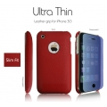 SGP Ultra Thin Leather Grip Red (with Crystal Film) for iPhone 3G/3GS