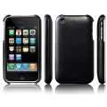 SGP Ultra Thin Genuine Leather Grip Legend Black for iPhone 3G/3GS