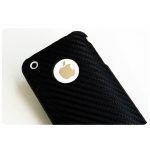 SGP Ultra Thin Leather Grip Carbon (with Crystal Film) for iPhone 3G/3GS