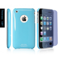 SGP Ultra Thin High Gloss Tender Blue (with Crystal Film) for iPhone 3G/3GS