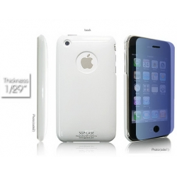 SGP Ultra Thin High Gloss White (with Crystal Film) for iPhone 3G/3GS