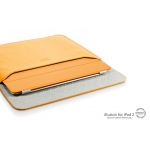 SGP Leather Case illuzion Sleeve Series Solaris Orange for iPad 4, iPad 3, iPad 2, iPad (SGP07632)