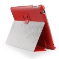 SGP Leather Case Stehen Series Dante Red for iPad 4, iPad 3, iPad 2 (SGP07814)