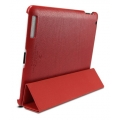 SGP Leather Case Griff Series Dante Red for iPad 4, 3, 2 (SGP07700)