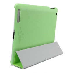 SGP Leather Case Griff Series Lime for for iPad 4, 3, 2 (SGP07699)