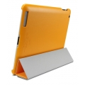 SGP Leather Case Griff Series Solaris Orange for iPad 4, 3, 2 (SGP07698)