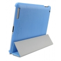 SGP Leather Case Griff Series Tender Blue for iPad 4, 3, 2 (SGP07696)