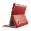 SGP Leather Case Leinwand Series Dante Red for iPad 4, iPad 3, iPad 2 (SGP07824)
