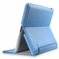 SGP Leather Case Leinwand Series Tender Blue for iPad 4, iPad 3, iPad 2 (SGP07825)