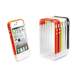 SGP Case Linear EX Frame Part A Satin Silver for iPhone 4, 4S (SGP08716)