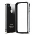 SGP Case Neo Hybrid-2 EX Series Satin Silver for iPhone 4, 4S (SGP07779)