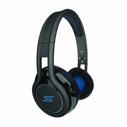 SMS Audio STREET by 50 Wired On Ear Headphones - Black (SMS-ONWD-BLK)
