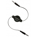 Scosche 3,5 Jack AUX Audio Cable rePLAY, 0.85M - Black (IU3.5RC)