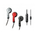 Scosche Chameleon Earbuds with tapLINE II Remote & Mic - Silver/Red/Black (HP65MD)