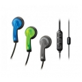 Scosche Chameleon Earbuds with tapLINE II Remote & Mic - Blue/Green/Charcoal (HP65MD2)