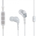 Scosche Noise Isolation Earbuds with slideLINE Remote & Mic - White (HP253M)