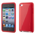 Speck PixelSkin HD for iPod Touch 4G, Bright Red (SP-SPK-A0131)