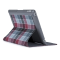Speck FitFolio for iPad 4, iPad 3, iPad 2 - Half Tone Plaid Grey&Red (SP-SPK-A1222)