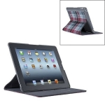 Speck FitFolio for iPad 4, iPad 3, iPad 2 - HalfTone Plaid Grey&Red Core (SP-SPK-A1731)
