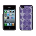 Speck Fitted Lavender/Purple Argyle for iPhone 4