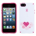 Speck CandyShell for iPhone 5C - HeartBloom White/Raspberry Pink (SPK-A2010)