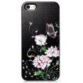 Star5 Graceful Luxury Butterfly&Flower Black for iPhone 5, 5S (with Swarovski)