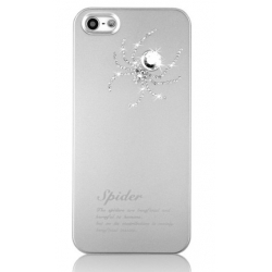 Star5 Insect Story Spider Silver for iPhone 5, 5S (with Swarovski)