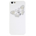 Star5 Pure Love Series Butterfly Dance White for iPhone 5, 5S (with Swarovski)