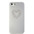 Star5 Pure Love Series Heart Silver for iPhone 5, 5S (with Swarovski)