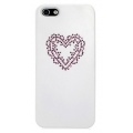 Star5 Pure Love Series Heart White for iPhone 5, 5S (with Swarovski)