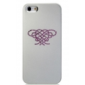 Star5 Pure Love Series Hearts Knot Silver for iPhone 5, 5S (with Swarovski)