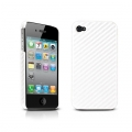 Tunewear Carbon look White for iPhone 4 (IP4-CARBON-01) (TUNEFILM protective film)