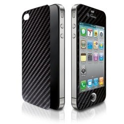 Tunewear Carbon look Skin Black for iPhone 4 (IP4-CARBON-SK01)