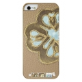 UUnique Luxury Laser Cut Applique Hard Shell for iPhone 5, 5S - Gold