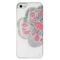 UUnique Luxury Laser Cut Applique Hard Shell for iPhone 5, 5S - White