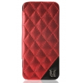 UUnique Metallic Quilted Glam Folio Hardshell for iPhone 5, 5S - Red