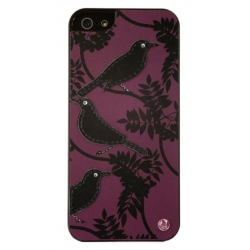 UUnique Sweet Bird Slimline Shell for iPhone 5, 5S - Purple