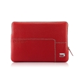 "Urbano Zip Sleeve Leather Case for Macbook 13"", Red (URB-UZRS13-04)"