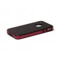 Verus Crucial Mix Twin for iPhone 4, 4S (Black/Wine)