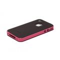 Verus Crucial Mix Twin for iPhone 4, 4S (Black/Pink)